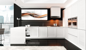 fine modern kitchen units